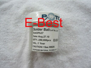 0 65mm 0 65 Mm 0 650 Bga Leaded Solder Balls Sn63 pb37