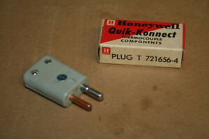 Type T Thermocouple Connector 721656 4 Quik konnect Honeywell Lot Of 10