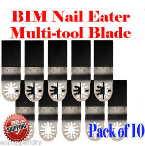 10 Nail Eater Oscillating Multitool Saw Blade For Bosch Multi x Craftsman Nextec