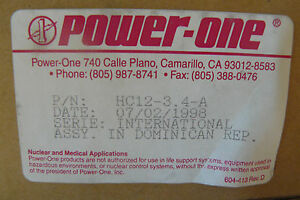 Power One Hc12 3 4 a Power Supply 3 4amp 100 240vac 12vdc