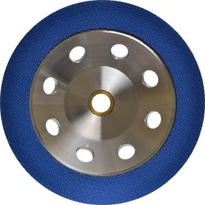 7 Metal Grind Polish Edge Pad Concrete Floor Backpad For Angle Grinder
