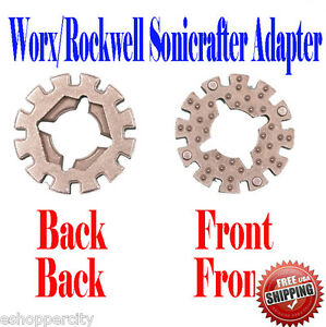 For Worx Rockwell Sonicrafter Arbor Adapter Oscillating Multi Tool Blade