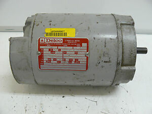 Delco 2j1624cdz 3 Phase Ac Motor 2 Hp 3470 3485 Rpm 60 220 440 230 460 Volt