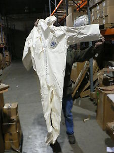 3 Per Purchase Tyvek Large Saranex Chemical Suit W Hood
