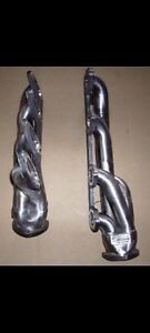 1971 1973 Mustang W Cobra Jet Heads Big Block Ford Fe Silver Coated Headers