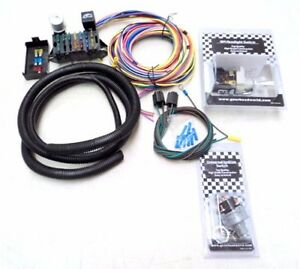 Deluxe 15 Universal Street Rod Wiring Wire Kit Bonus Headlight Ignition Switch