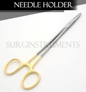 10 T c Mayo Hegar Needle Holder 7 W tungsten Surgical Veterinary Instruments