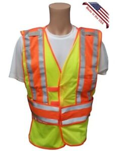 Lime Class Ii Mesh First Responder Safety Vest And 5 Point Tearaway Size 4x