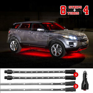 Red 12pc Premium Exterior Interior Led Accent Neon Light Kit All Car Truck Leds