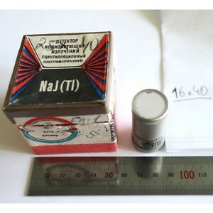 Russian Scintillator Nai tl 16 40 Mm New Scintillation Detector