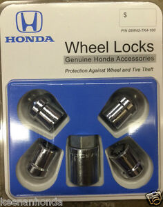 Genuine Oem Honda Wheel Lock Set Locks 08w42 Tk4 100