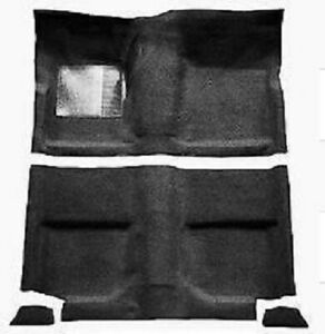 Acc 65 68 Mustang Fastback Nylon Loop Black Carpet With Out Folddowns