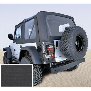 Xhd Replacement Black Denim Soft Top For Jeep Wrangler Tj 1997 2006 13723 15