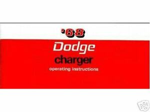 1968 68 Dodge Charger Owner s Manual