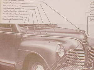 1941 Plymouth Nos Mopar Hood Side Moulding P11 Deluxe P12 Special Deluxe