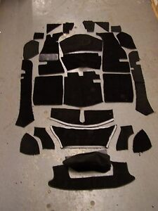 Mg Mga 56 62 Roadster Or Coupe Black Loop Carpet Kit With 20 Ounce Padding