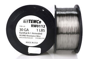 Temco Kanthal A1 Wire 30 Gauge 1 Lb 4142 Ft Resistance Awg A 1 Ga