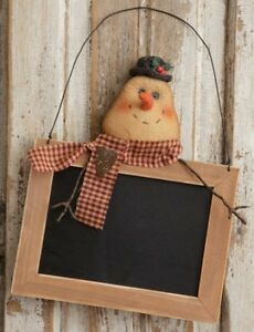 Sale Country New Hanging Snowman Wood Message Board Nice Winter Decor Or Gift