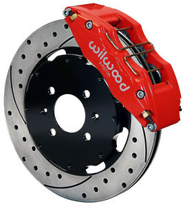 Wilwood Disc Brake Kit Front Honda 10735 12 Drilled Rotors 6 Piston Red Caliper