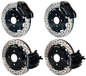 Wilwood Disc Brake Kit Honda Civic 6310 10207 12 Drilled Rotors Black Calipers