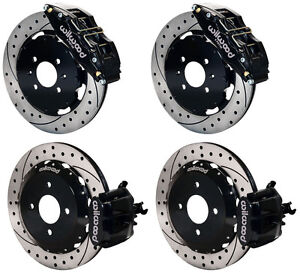 Wilwood Disc Brake Kit Honda Civic 10736 10209 12 Drilled Rotors 6 Piston Front