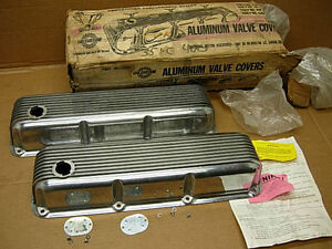 Ford Mustang Boss 302 351 Nos Cal Custom 40 2700 Aluminum Valve Covers Cougar
