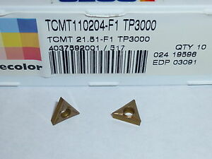 Tcmt 21 51 F1 Tp3000 Seco 10 Inserts Factory Pack