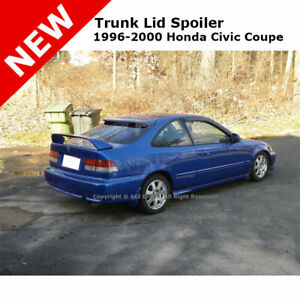 For Civic 2d 96 00 Si Trunk Spoiler Rear Painted Granada Black Pearl Nh503p