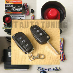 Car Alarm Security System Remote Central Locking Kit For Vw Golf Mk4 Mk5 Polo