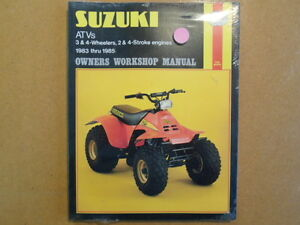NEW Haynes 83-85 Suzuki 2 & 4 Stroke 3 & 4 Wheelers ATV ATC ALT LT Shop Manual
