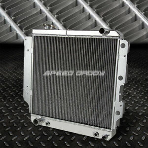 For 87 06 Jeep Wrangler Yj Tj 2 4 4 2 3 Row Full Aluminum Core Racing Radiator