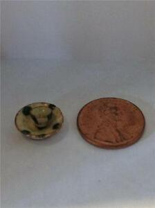 Antique Miniature Spatterware Pottery Cup Saucer Dollhouse