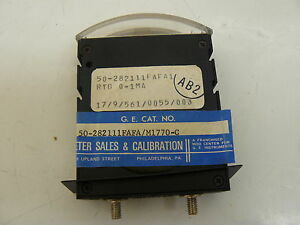 New Ge 50 282111fafa m1770 c Thin Edgewise Panel Meter 458 0164