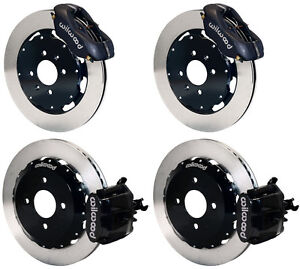 Wilwood Disc Brake Kit Honda Civic 8695 10210 11 Rotors Black Calipers