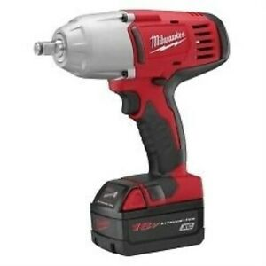 M18 Cordless 1 2 Drive High Torque Impact Wrench With 2 Batteries And Charger