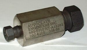 Autoclave Engineers 3 8 X 1 8 Stainless Steel Reducer Coupler Fitting 10c6200