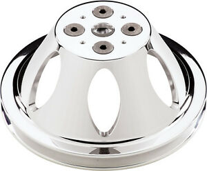 Billet Specialties Sbc Polished Water Pump Pulley short 1 V belt Groove chevy
