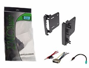 Double Din Dash Kit For After Market Radio Install With Wire Harness Antenna