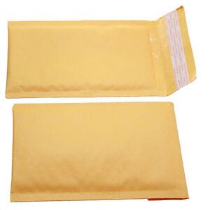 Qty 100 Small Size 000 5x8 Kraft Bubble Padded Envelopes 4 5x7 Usable Space
