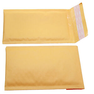 Qty 50 Small Size 000 5x8 Kraft Bubble Padded Envelopes 4 5x7 Usable Space