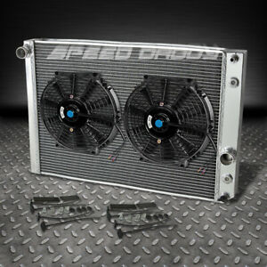 3 Row Aluminum Racing Radiator Fans 91 96 Chevy Corvette 5 7l L98 Lt1 Zr 1 V8 Mt