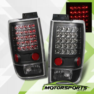 1997 1998 1999 2000 2001 2002 Ford Expedition Black Led Brake Tail Lights Pair