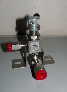 New Aptech Stainless Steel Manual Diaphragm Valve Open Close 250 Psi Max