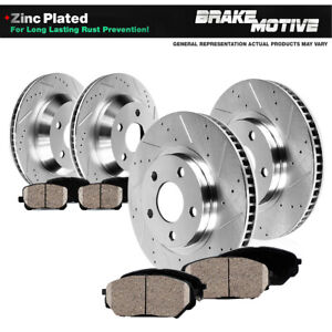 Front Rear Drilled Slotted Brake Rotors Ceramic Pads For Infiniti M45 Q45