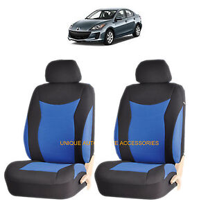 Blue Speed Front Lowback Seat Covers Set For Mazda 3 6 Cx 7