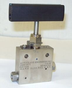 Autoclave Engineers Sf 250 Cx 1 4 20000 Psi Stainless Steel Valve 20sv4071