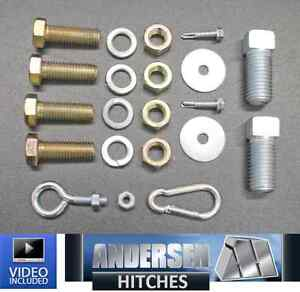 Andersen 3107 Bolt Kit For The Andersen Ranch Hitch Adapter