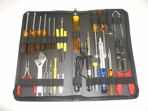 Gc Electronics 12 6972 26pc Radio Tv Pc R d Master Tool Set Kit Solder Iron Case