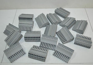 Wago 10 Pole position Female Plug Connector Lot Of 24 Part 2022 110