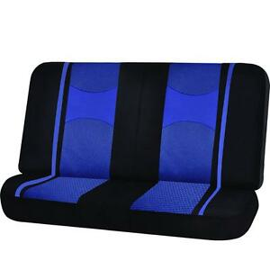 Blue Black Poly Mesh Net 2pc Bench Seat Cover Split For Ford Explorer F150